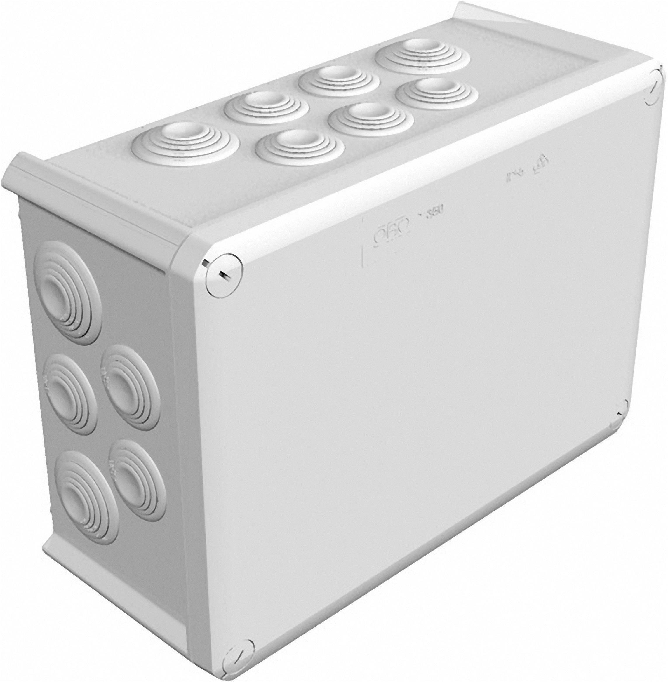 Rozbočovacia krabica OBO Betternann T350, IP66, 285x 201x 120 mm, svetlo sivá, 2007125