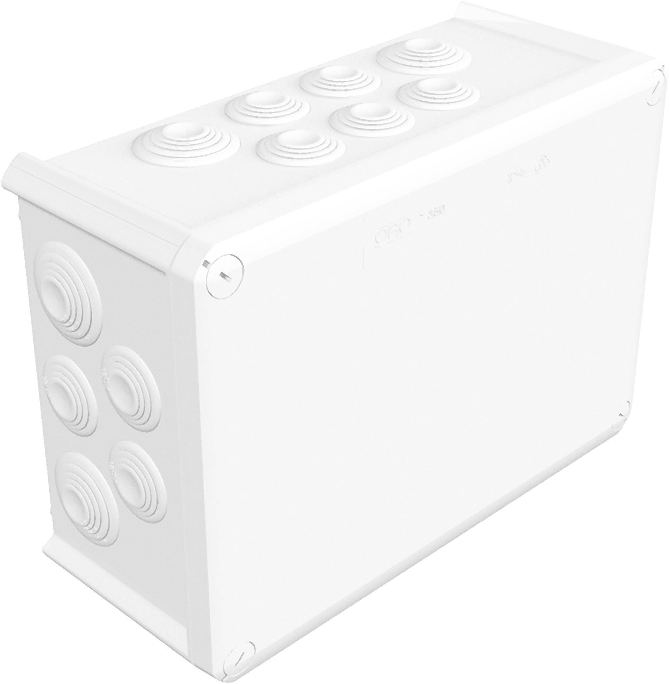 Rozbočovacia krabica OBO Betternann T350, IP66, 285x 201x 120 mm, jasne biela, 2007568