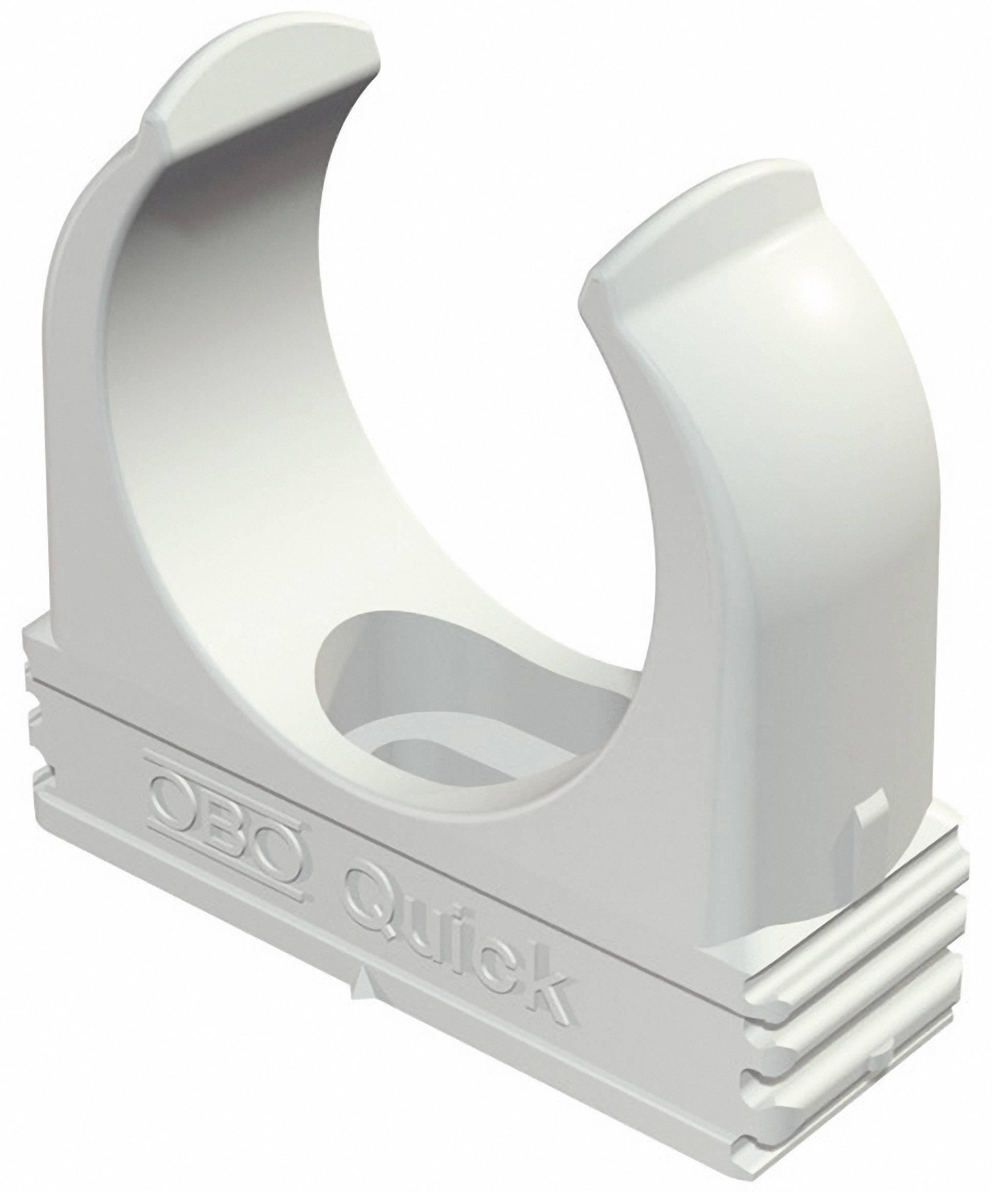 Držák pro trubky OBO Bettermann, 2149004, M16, světle šedá