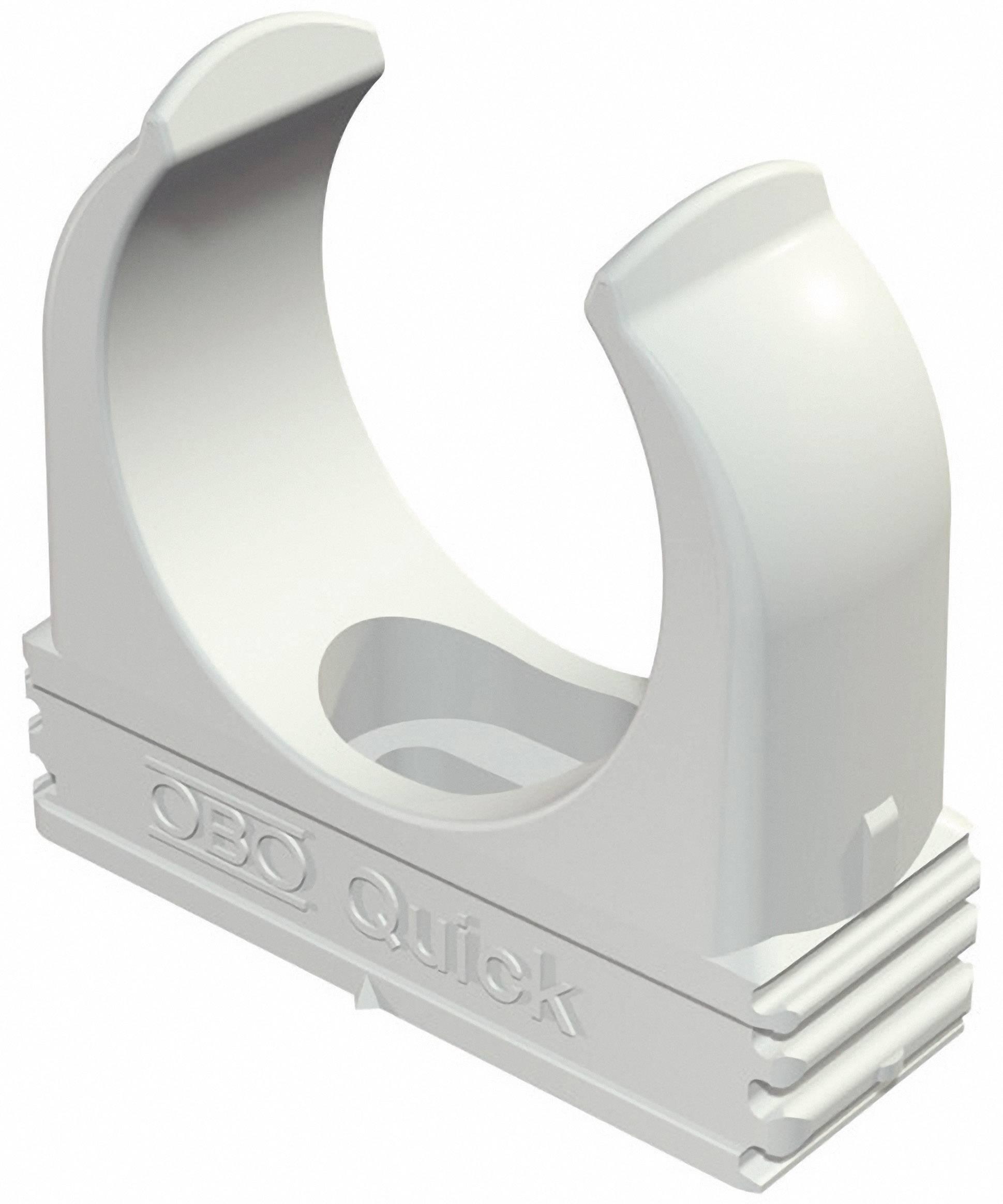 Držák pro trubky OBO Bettermann, 2149016, M25, světle šedá