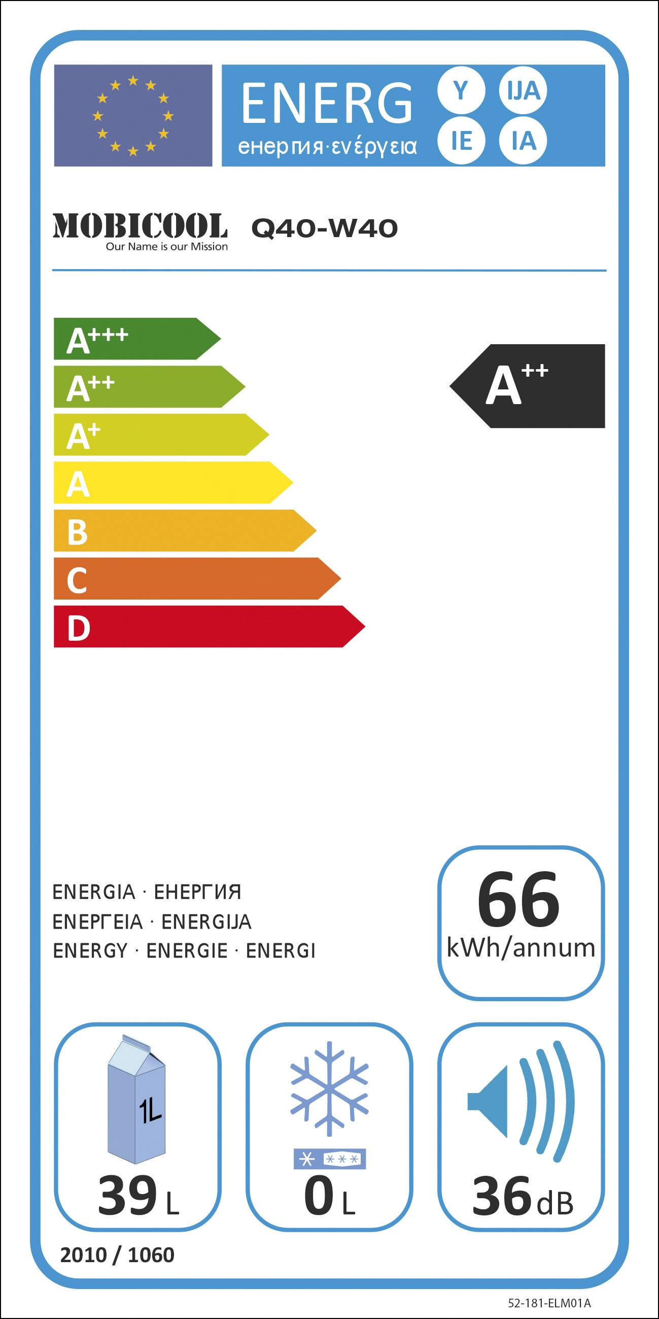 Prenosná chladnička (autochladnička) MobiCool Q40 12 V, 230 V hliník 40 l en.trieda=A++