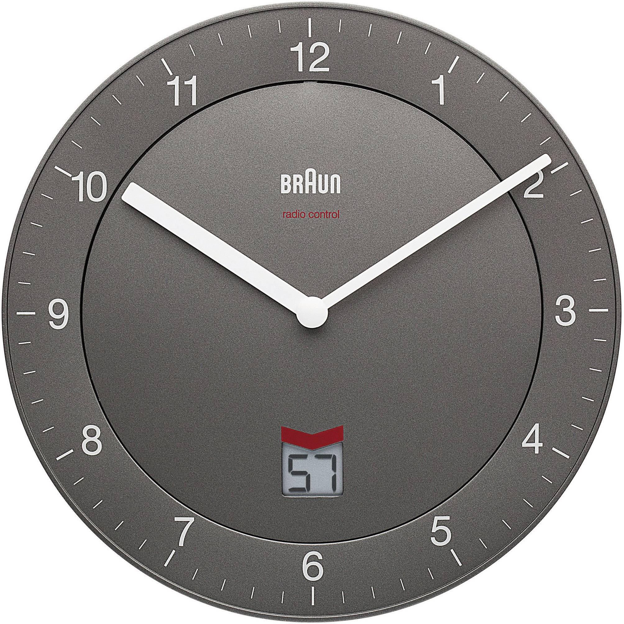 Nástenné DCF hodiny Braun Ø 20 cm