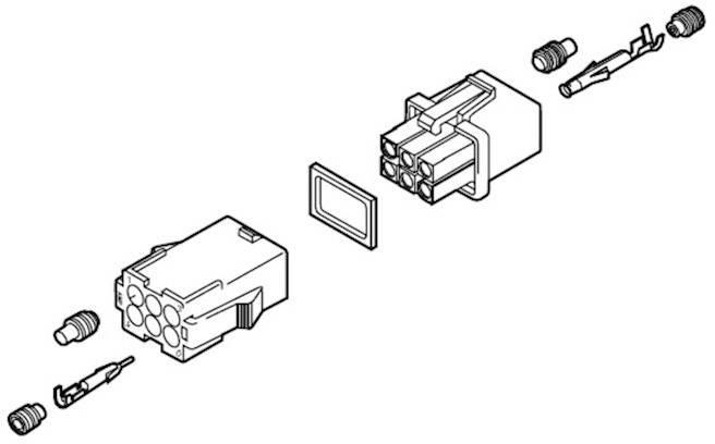Tesnenie na samostatné káble TE Connectivity Mini-Universal MATE-N-LOK 794758-1, 1 ks