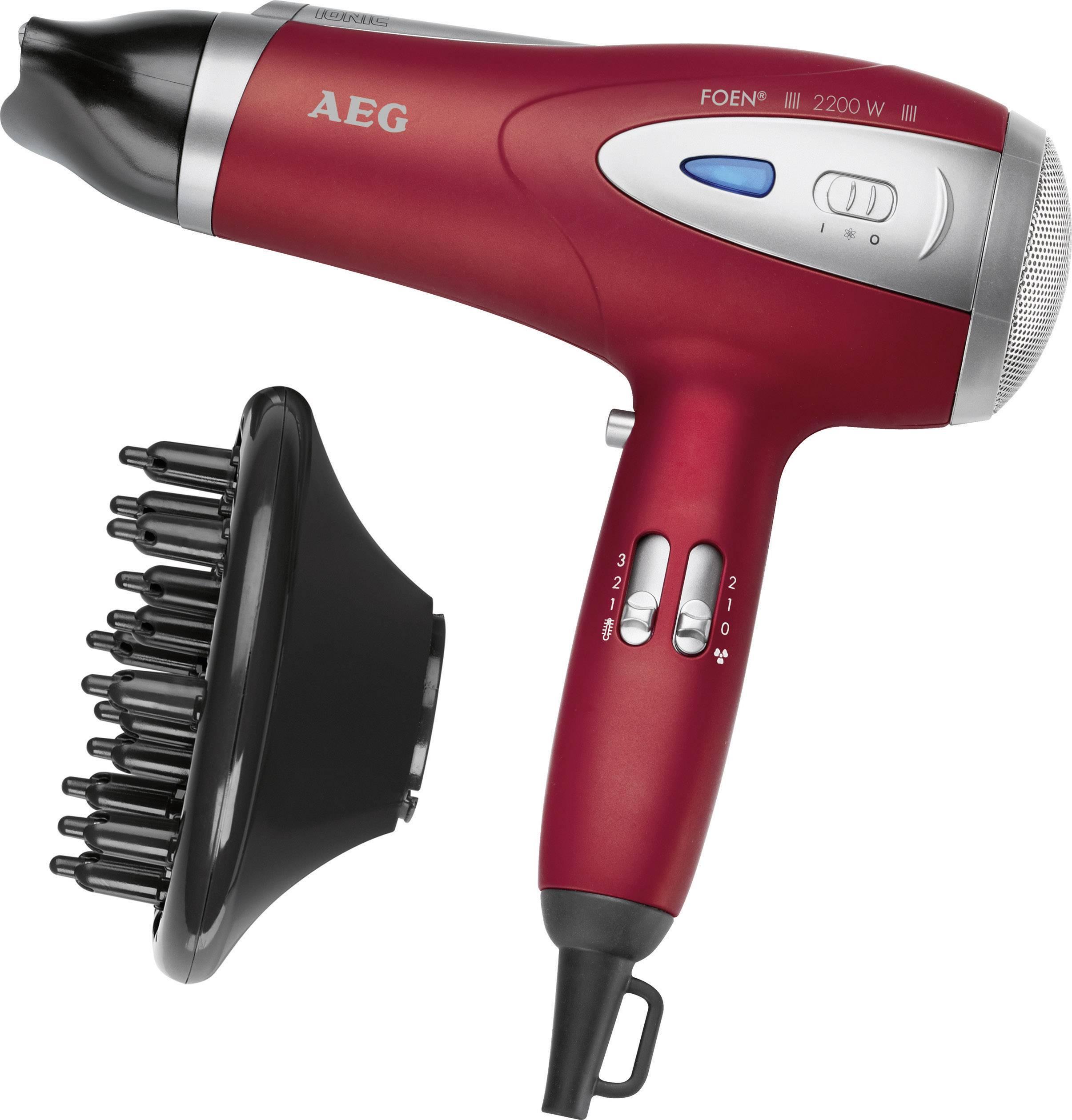 Fén AEG HTD 5584 červená (metalíza), strieborná
