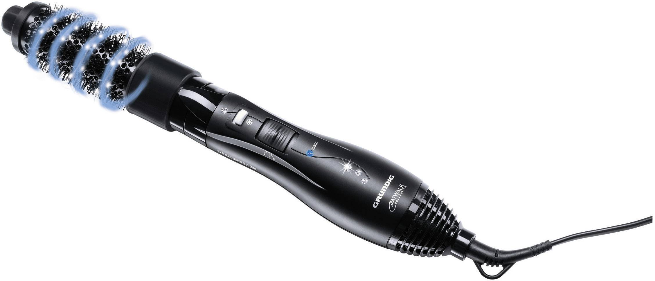 Vlasová kefa Grundig 1200 W, čierna