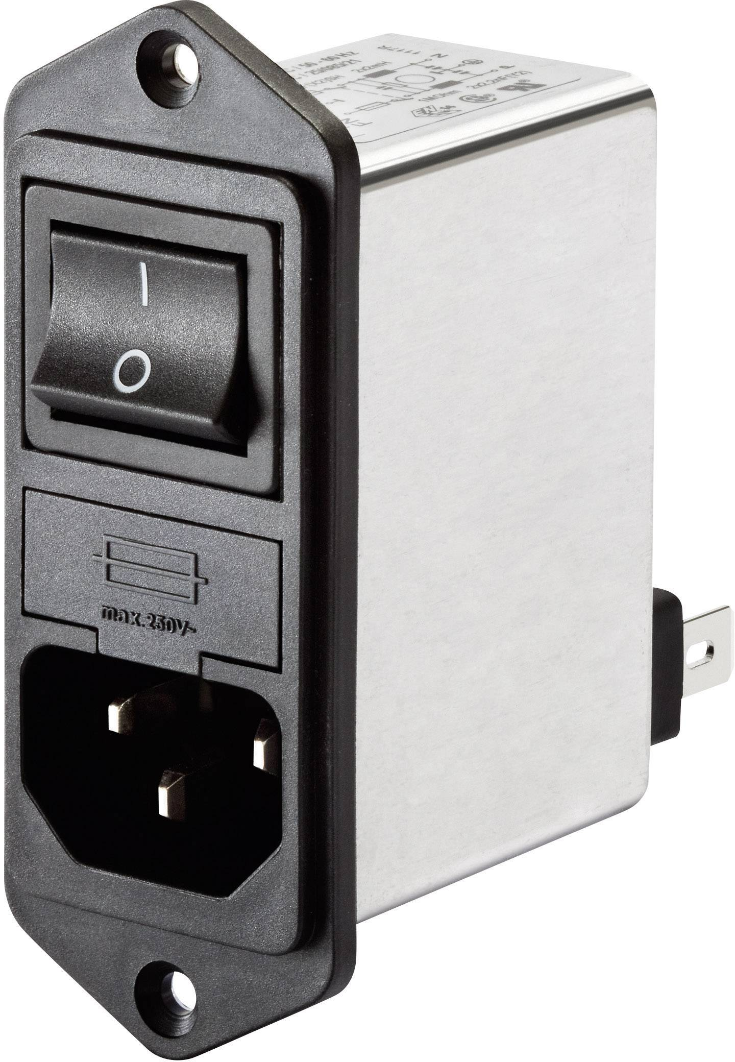 Síťový filtr Schaffner, FN 281-6-06, 0,45 mH, 250 V/AC, 6 A