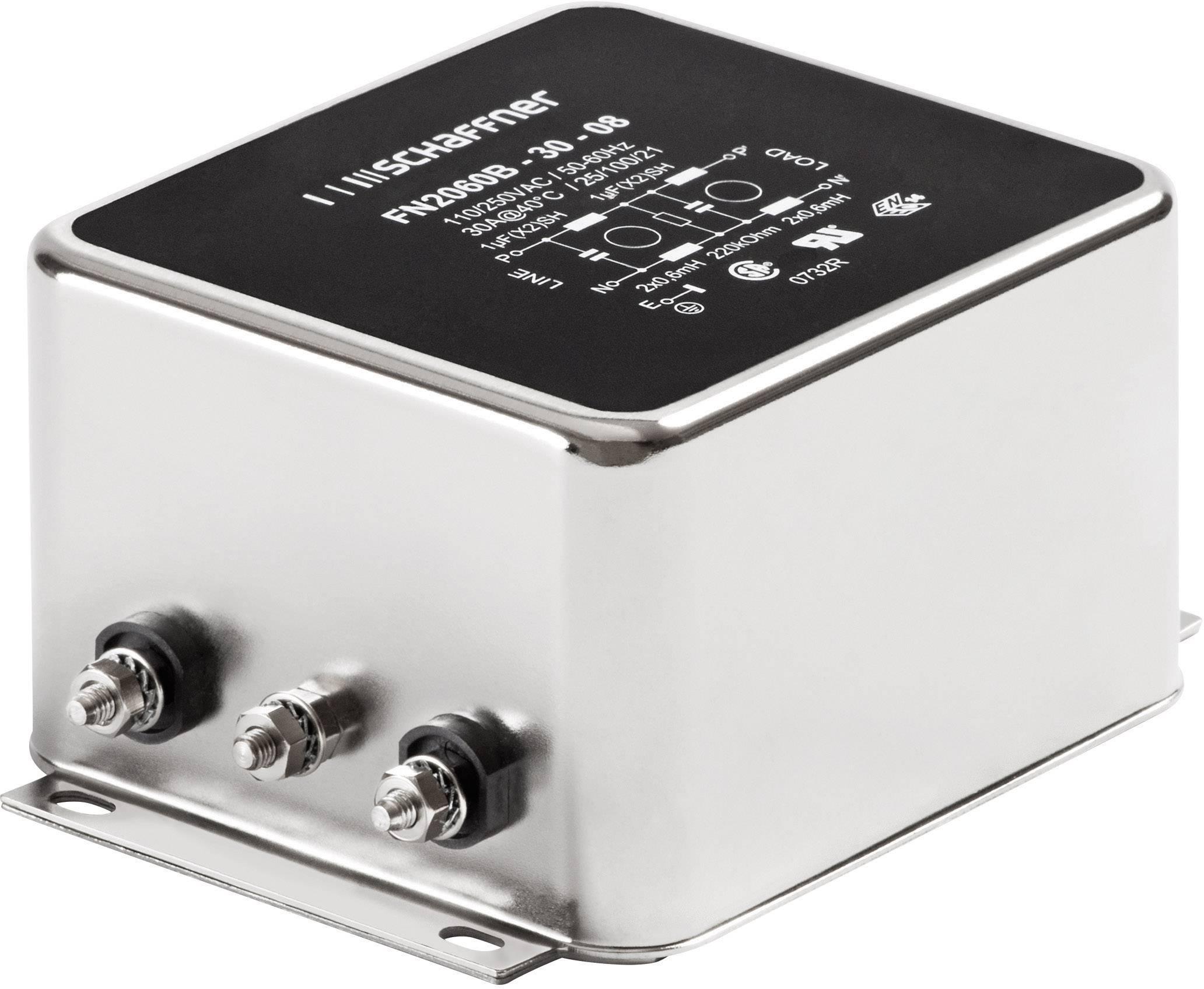 Odrušovací filter Schaffner FN 2060-3-06 FN 2060-3-06, 250 V/AC, 3 A, 2.5 mH, (š x v) 71 mm x 46.6 mm, 1 ks