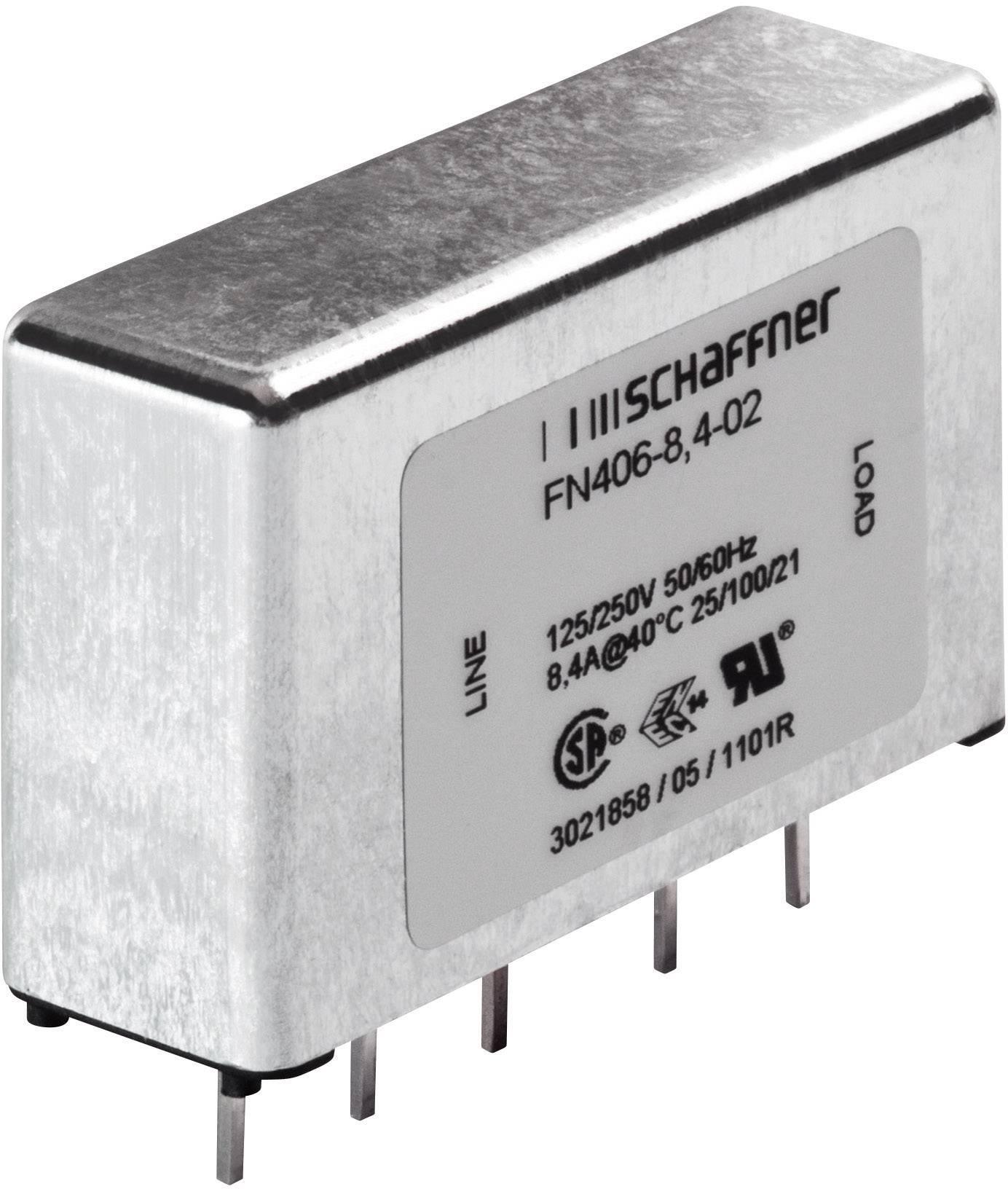 Síťový filtr do DPS Schaffner, FN 406-3-02, 2,5 mH, 250 V/AC, 3 A