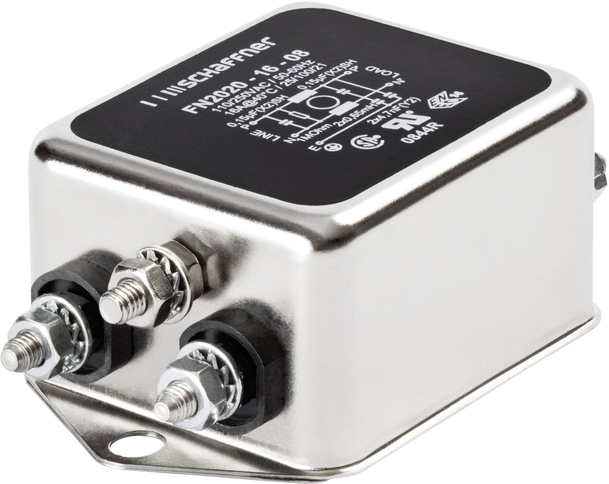 Odrušovací filter Schaffner FN 2020-12-06 FN 2020-12-06, 250 V/AC, 12 A, 0.7 mH, (š x v) 64 mm x 29.3 mm, 1 ks