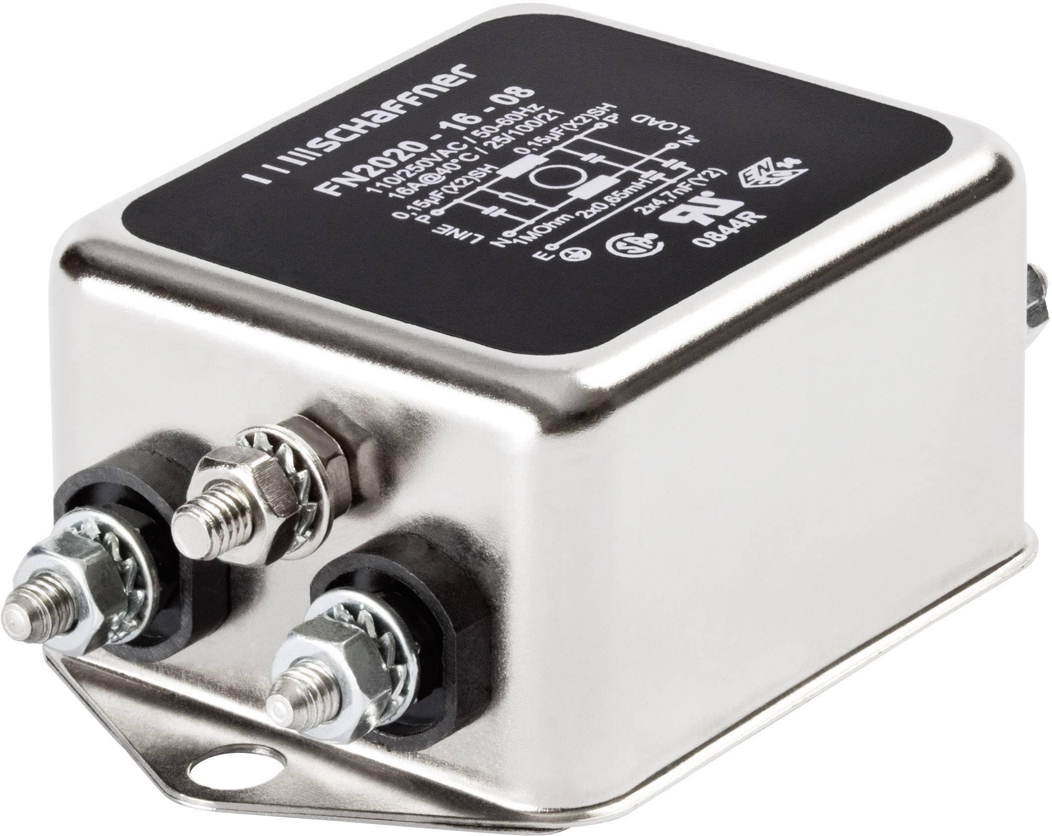 Síťový filtr Schaffner, FN 2020-10-06, 0,8 mH, 250 V/AC, 10 A