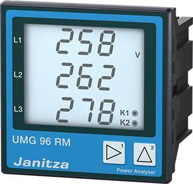 6 kanálový sieťový analyzátor, Ethernet, s meraním RCM Janitza UMG96RM-E 5222062