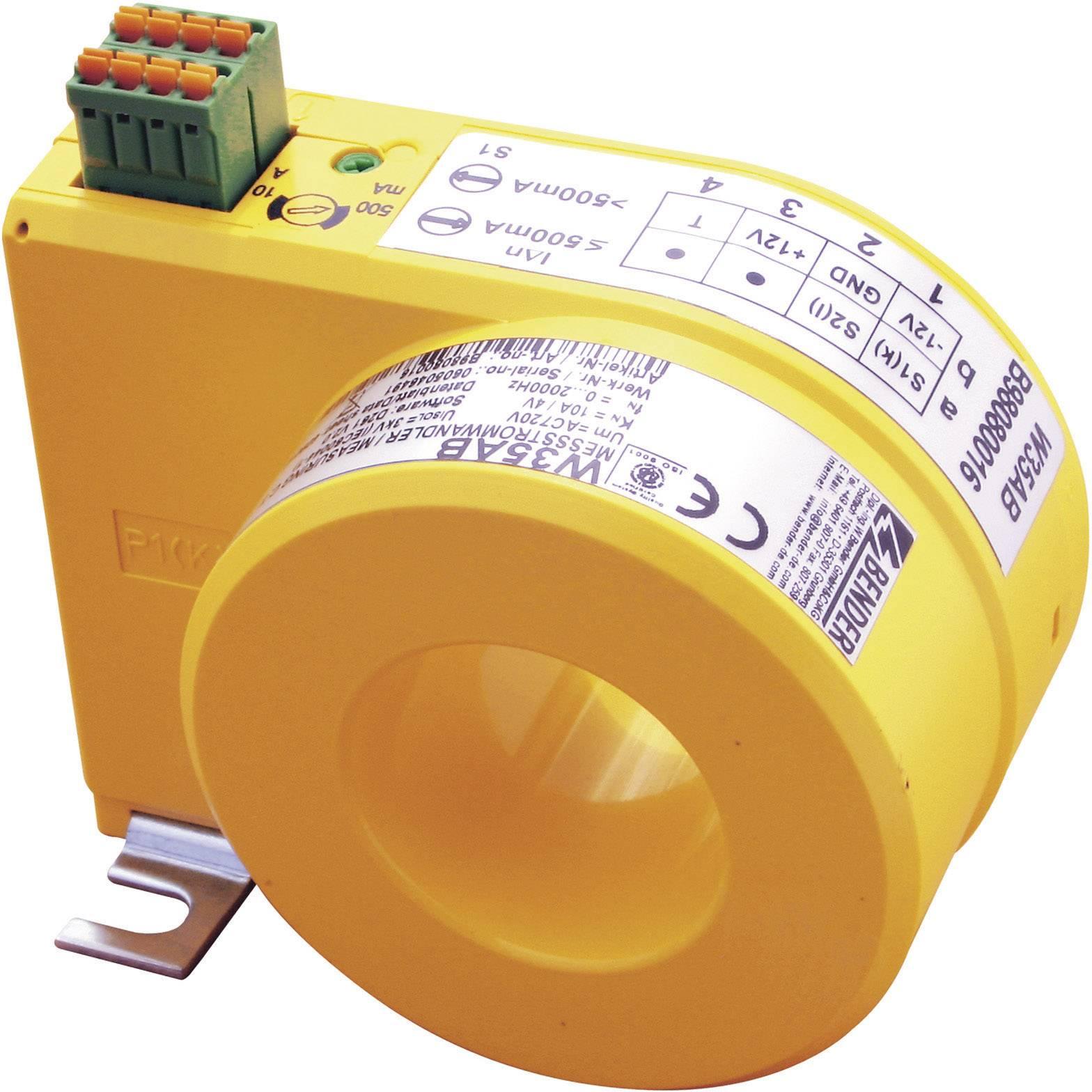 Prúdový transformátor 1-fázový Bender W20AB B98080008, Ø priechodky vodiče 20 mm