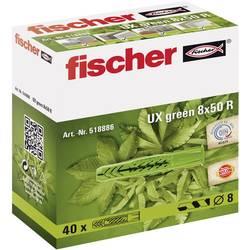 Univerzální hmoždinka Fischer UX GREEN 6 x 35 R 518885, Vnější délka 35 mm, Vnější Ø 6 mm, 40 ks