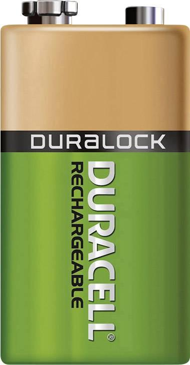 9 V akumulátor NiMH Duracell 6LR61 DUR056008, 170 mAh, 8.4 V, 1 ks