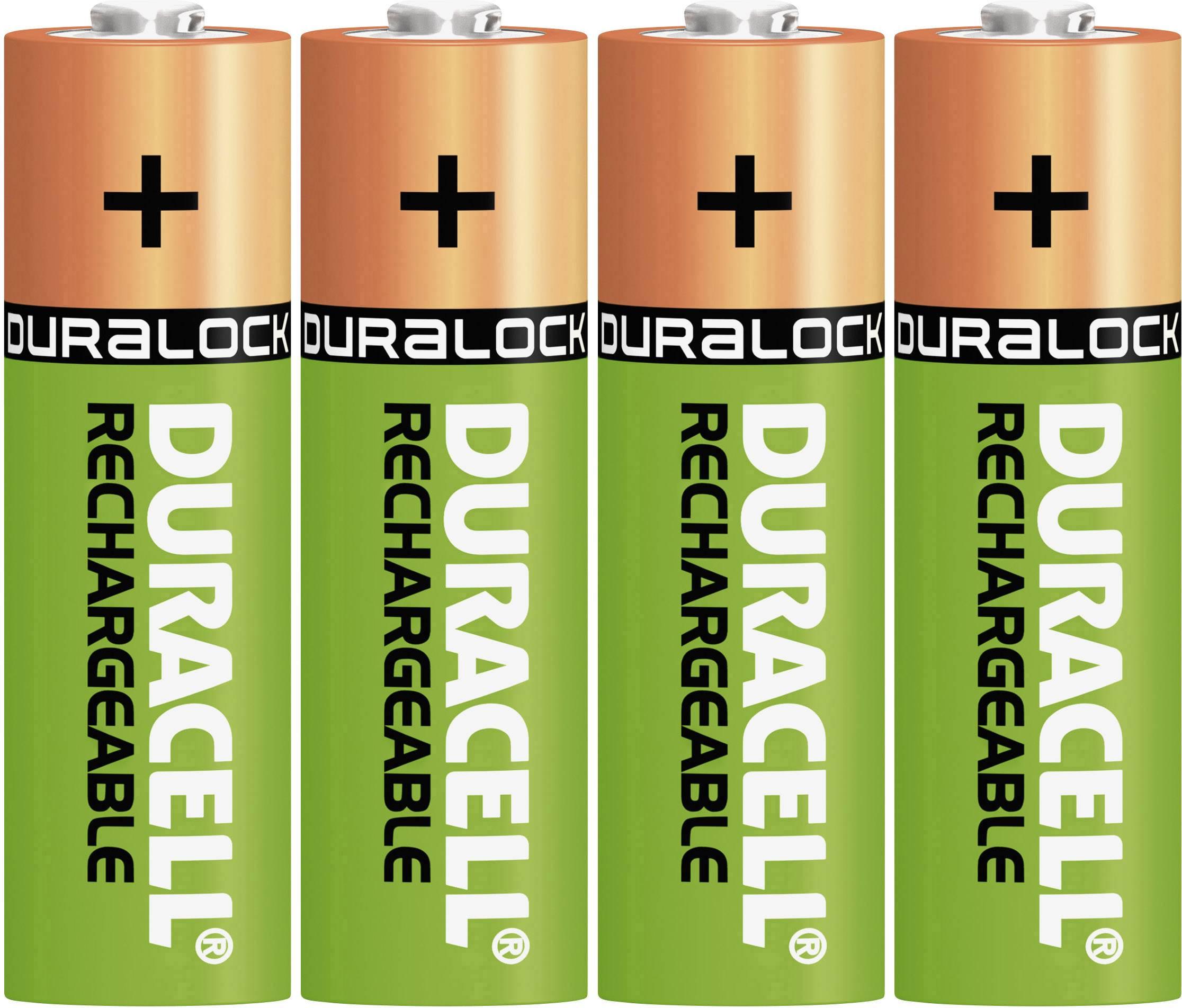 Tužkový akumulátor typu AA NiMH Duracell StayCharged HR06 DUR039247, 1300 mAh, 1.2 V, 4 ks