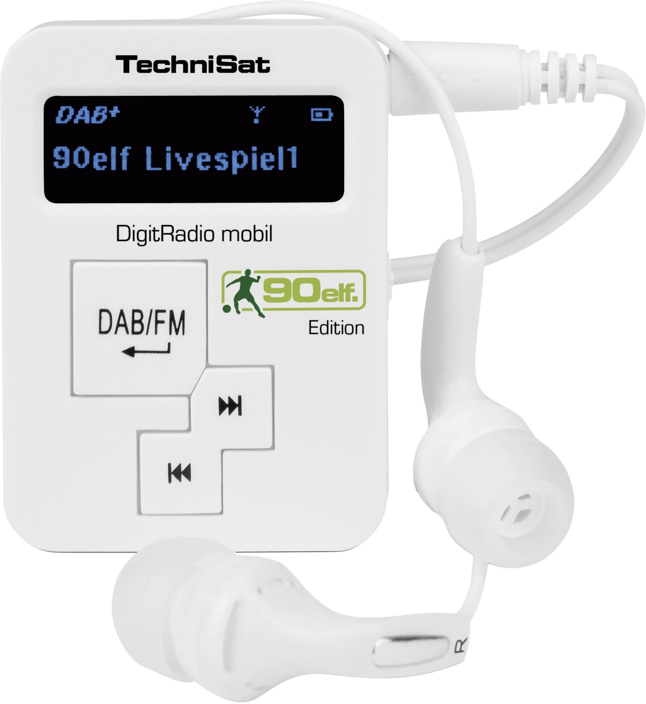 Vreckové DAB+ rádio TechniSat Digitrádio Mobil, FM, biele