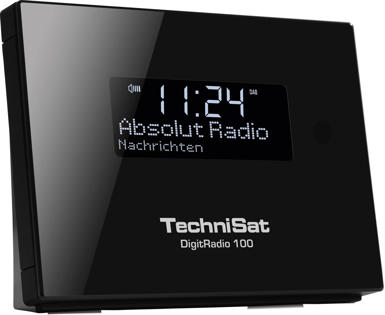 DAB+, FM rádio s výstupom bez reproduktorov TechniSat DigitRadio 100, Bluetooth, DAB+, UKW, čierna