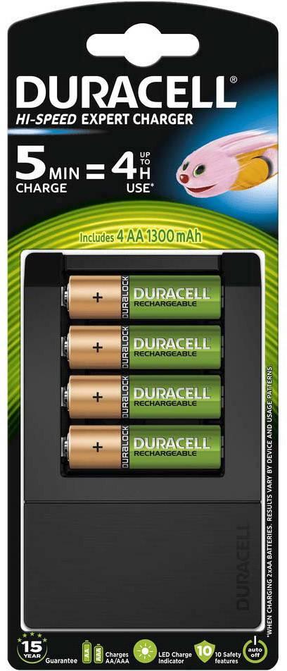 Nabíjačka na okrúhle akumulátory Duracell CEF15, CEF15, micro (AAA), mignon (AA)