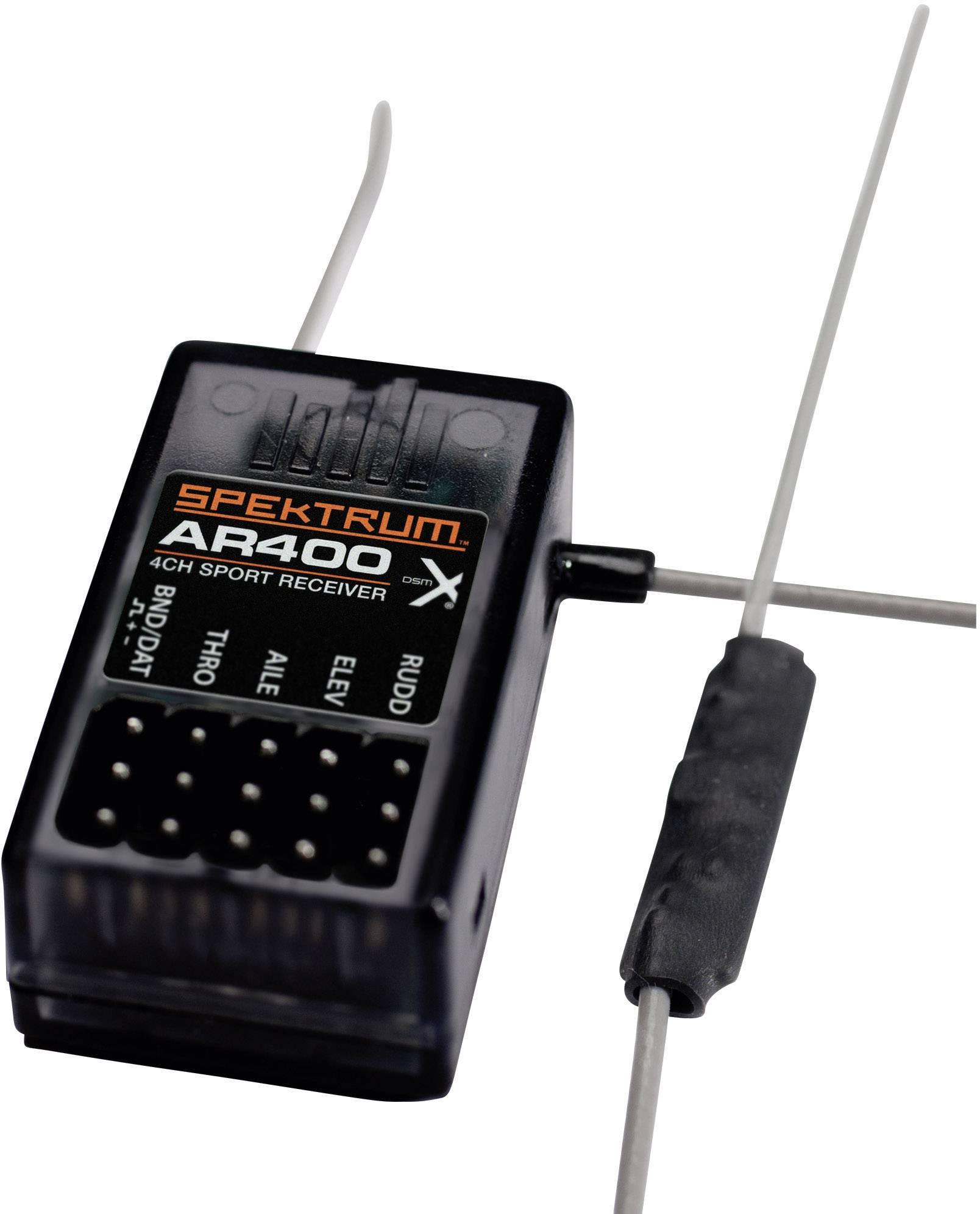 Přijímač Spektrum AR400 DSM X, 2,4 GHz, 4 kanály, JR