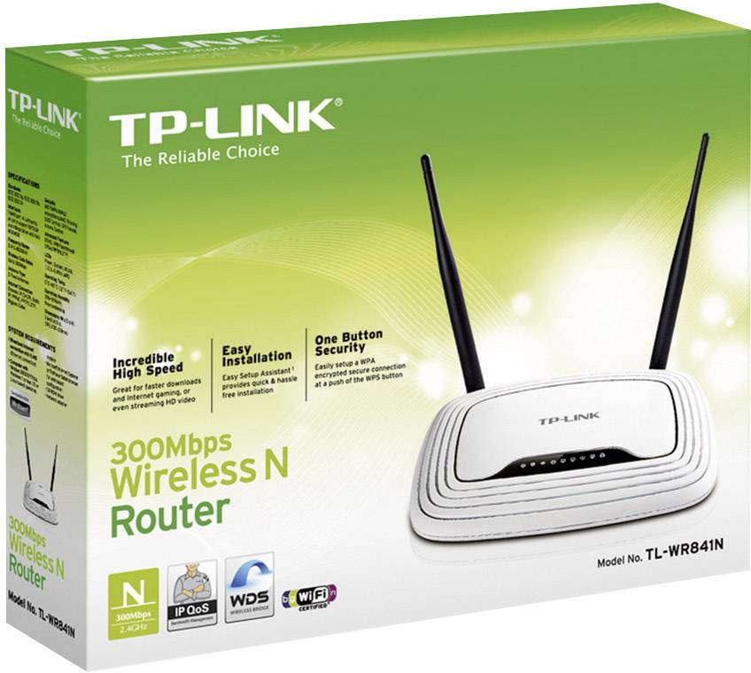 Wi-Fi router TP-LINK TL-WR841N 2,4 GHz 300 Mbit / s