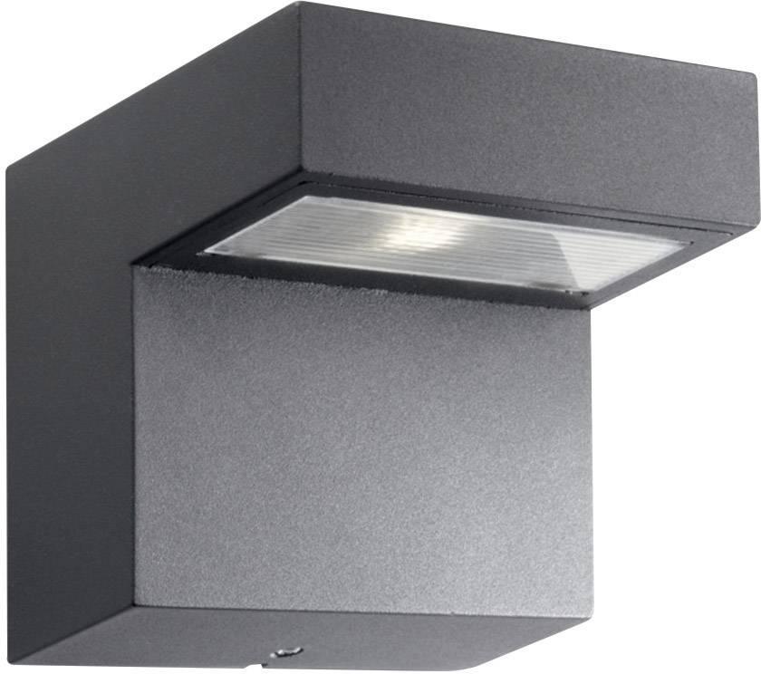 LEDvonkajšie nástennéosvetlenie 1 W teplá biela Philips Lighting Riverside 16320/93/16 antracitová
