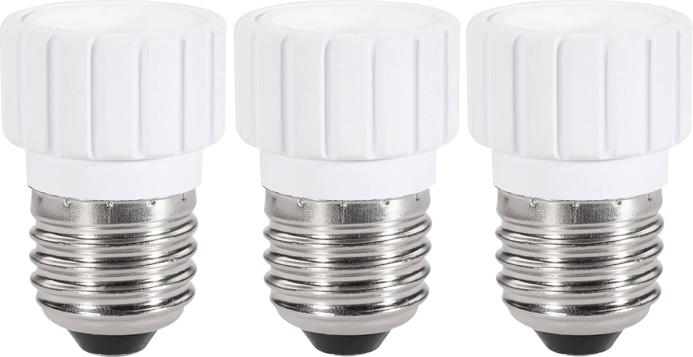 Redukčná objímka Renkforce pre E27 ⇔ E14, 97029c81a, 220 - 250 V, max. 75 W, biela