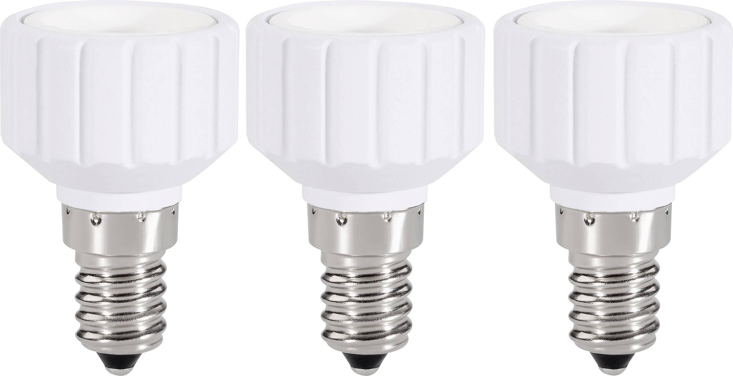 Redukcia Renkforce pre E14 ⇔ GU10, 97029c81c, 220 - 250 V, max. 75 W, biela