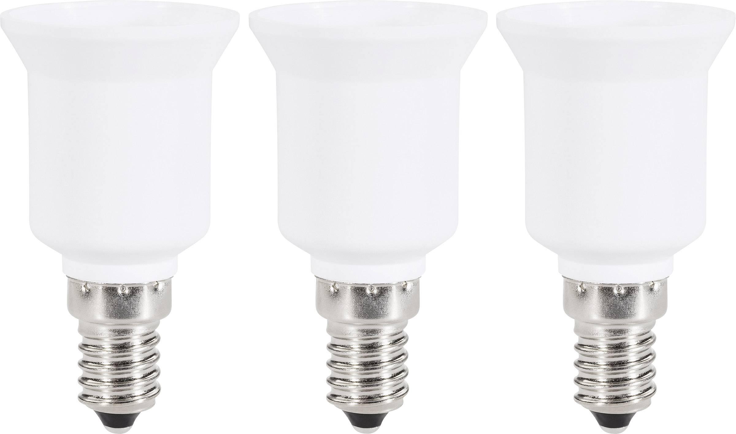 Redukčná objímka Renkforce pre E14 ⇔ E27, 97029c81h, 220 - 250 V, max. 75 W, biela