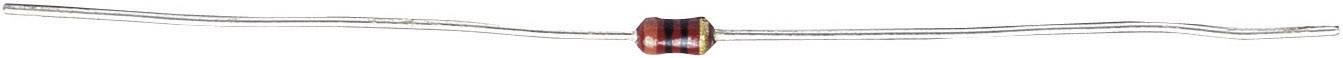 Uhlíkový rezistor, 10 Ω, 0204, axiální vývody, 0,1 W, 5 %