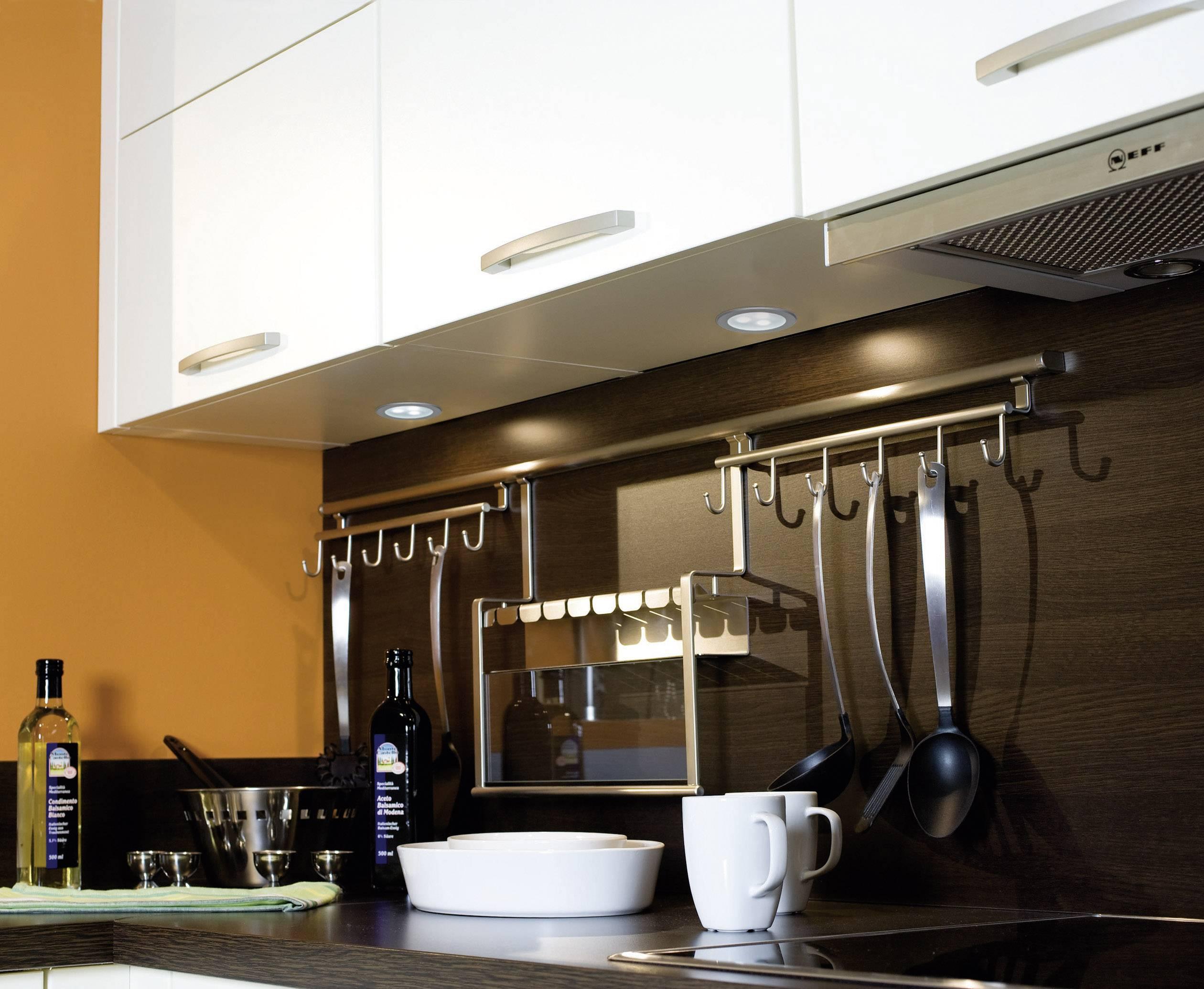 Vstavané LED svetlo do nábytku Paulmann Micro Line, 3x 3 W, studená biela, 75 mm