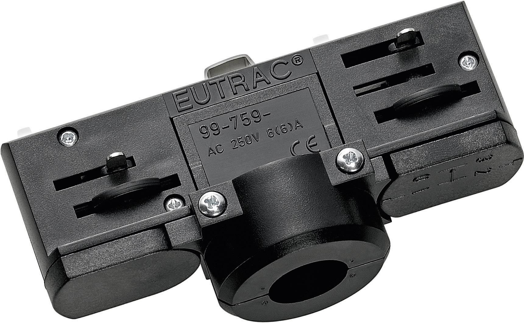 Adaptér lišty - vysokonapäť. komponent pre lištové systémy Eutrac 145990, čierna