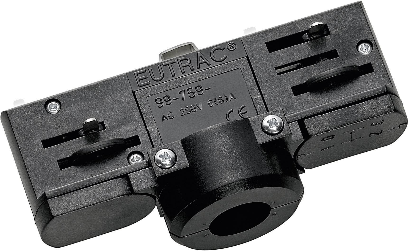 Adaptér lišty - vysokonapäť. komponent pre lištové systémy Eutrac 145994, striebornosivá