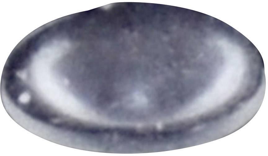 Podstavná nožka přístrojová TOOLCRAFT PD2006C, (Ø x v) 6.4 mm x 1.9 mm, transparentní, 1 ks