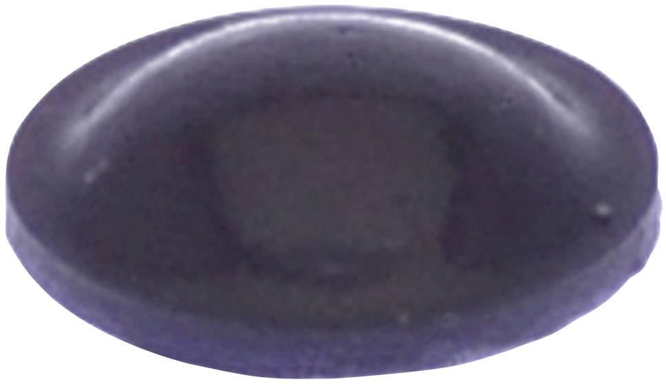 Podstavná nôžka prístrojová TOOLCRAFT PD2008SW, (Ø x v) 8 mm x 2.2 mm, čierna, 1 ks