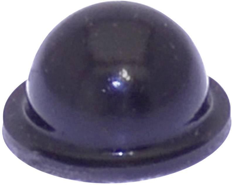 Podstavná nôžka prístrojová TOOLCRAFT PD2055SW, (Ø x v) 9.6 mm x 5.4 mm, čierna, 1 ks