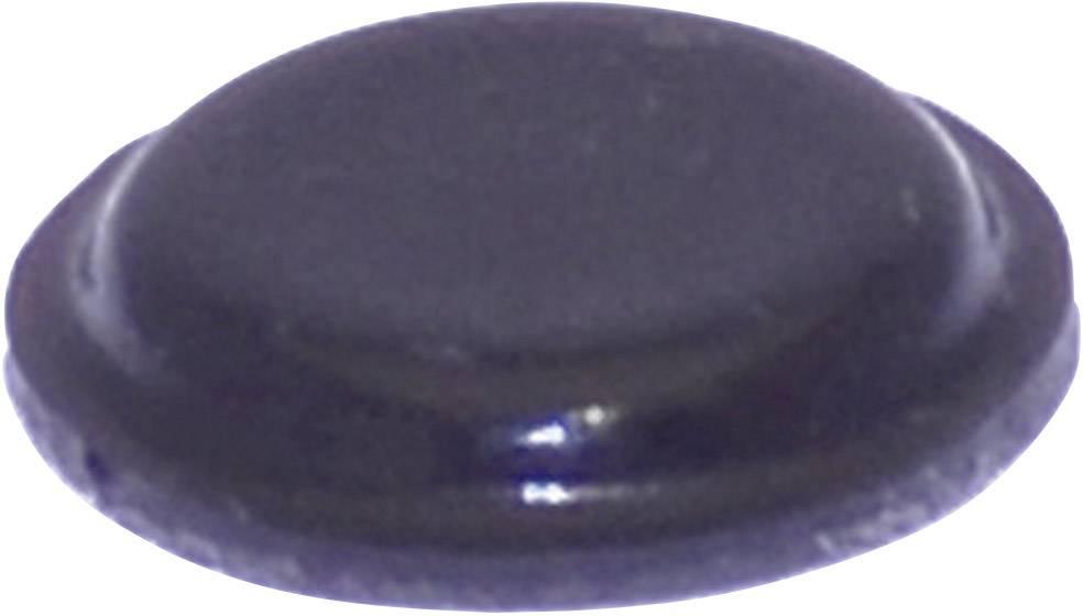 Podstavná nôžka prístrojová TOOLCRAFT PD2120SW, (Ø x v) 10.1 mm x 1.8 mm, čierna, 1 ks