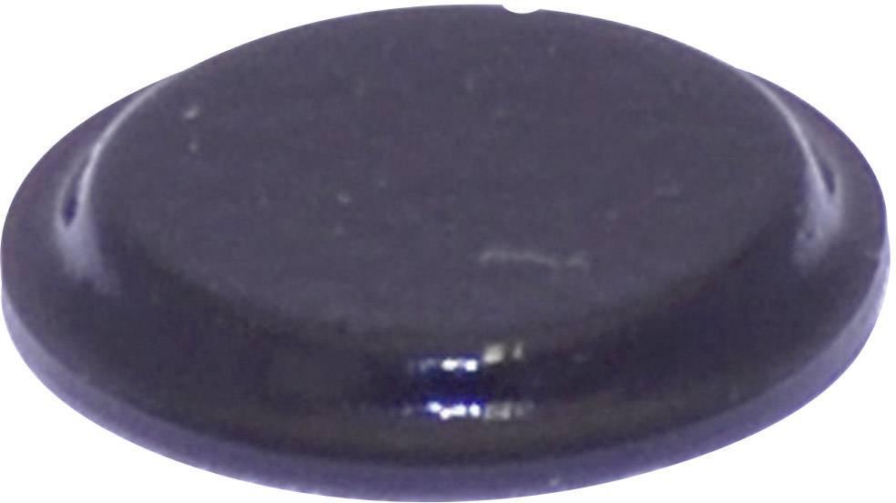Podstavná nôžka prístrojová TOOLCRAFT PD2122SW, (Ø x v) 12.7 mm x 1.8 mm, čierna, 1 ks