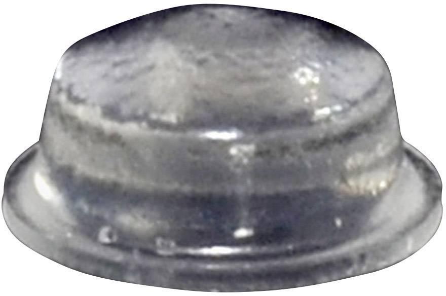 Podstavná nôžka prístrojová TOOLCRAFT PD2115C, (Ø x v) 11.1 mm x 5 mm, priehľadná, 1 ks