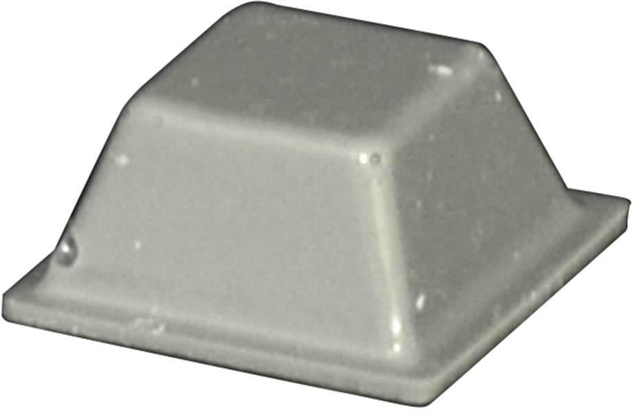 Podstavná nôžka prístrojová TOOLCRAFT PD2126G, (d x š x v) 12.6 x 12.6 x 5.7 mm, sivá, 1 ks