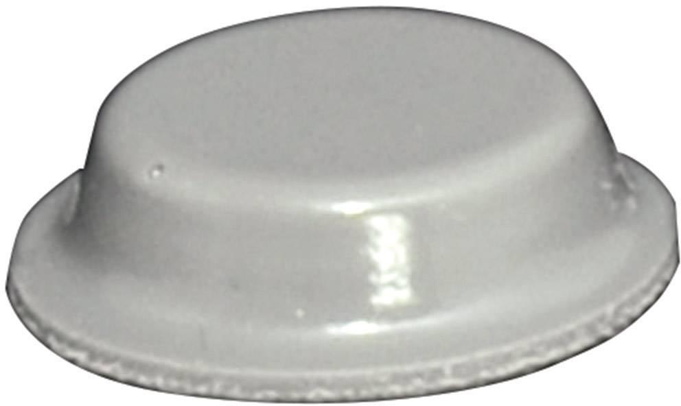 Podstavná nôžka prístrojová TOOLCRAFT PD2125G, (Ø x v) 12.7 mm x 3.5 mm, sivá, 1 ks