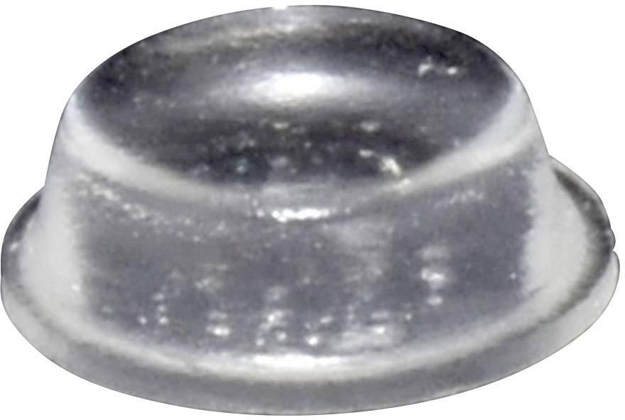 Podstavná nôžka prístrojová TOOLCRAFT PD2014C, (Ø x v) 14 mm x 4.5 mm, priehľadná, 1 ks