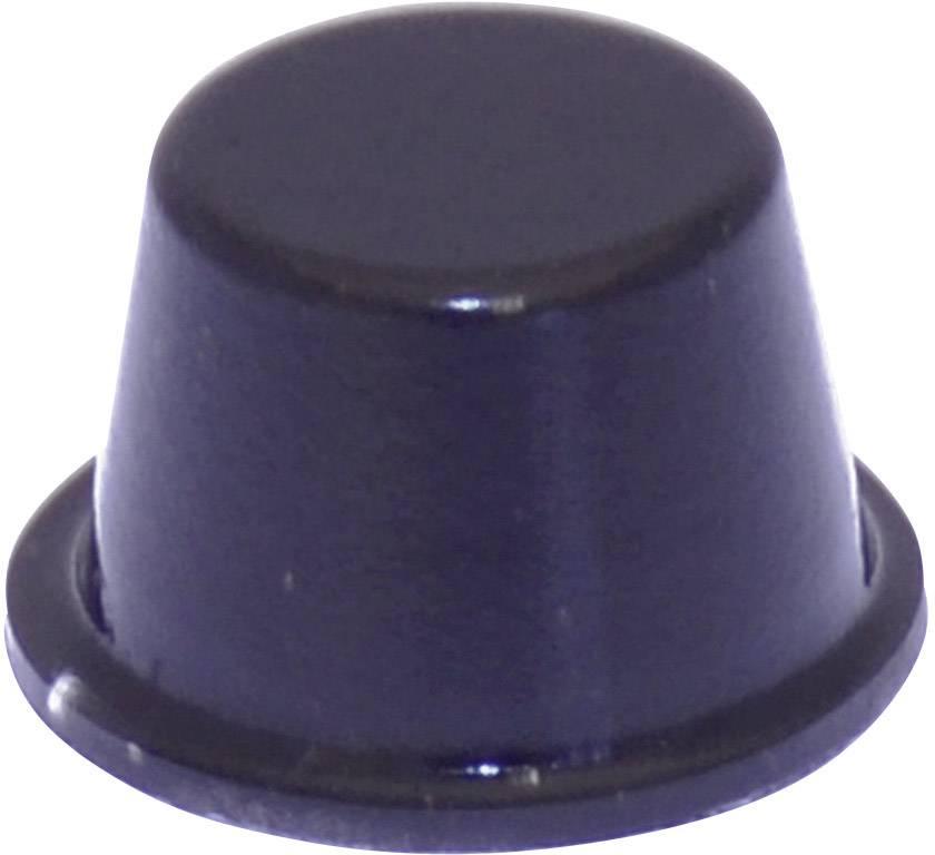 Podstavná nožka přístrojová TOOLCRAFT PD2164SW, (Ø x v) 16.5 mm x 10.2 mm, černá, 1 ks