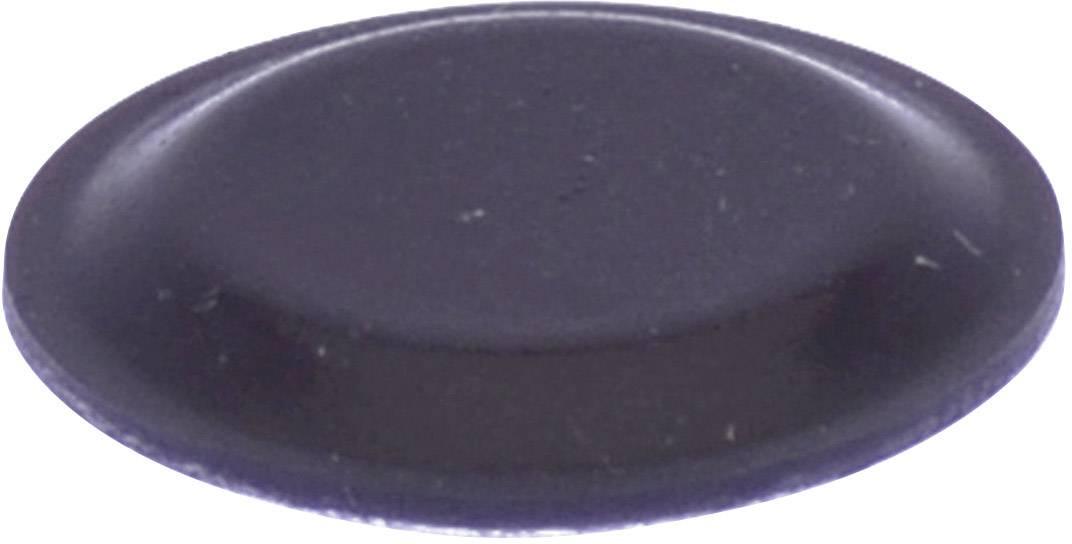 Podstavná nôžka prístrojová TOOLCRAFT PD2191SW, (Ø x v) 19 mm x 1.9 mm, čierna, 1 ks