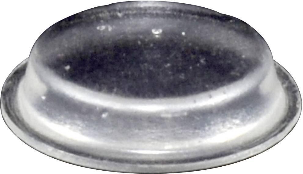 Podstavná nôžka prístrojová TOOLCRAFT PD2024C, (Ø x v) 19 mm x 4 mm, priehľadná, 1 ks