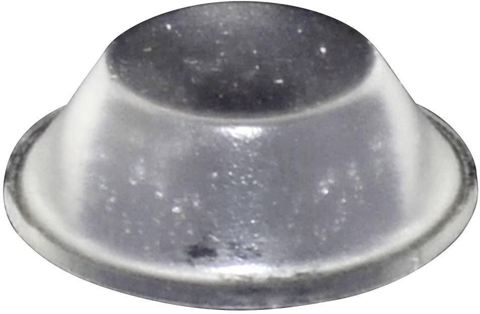 Podstavná nôžka prístrojová TOOLCRAFT PD2019C, (Ø x v) 19 mm x 6 mm, priehľadná, 1 ks