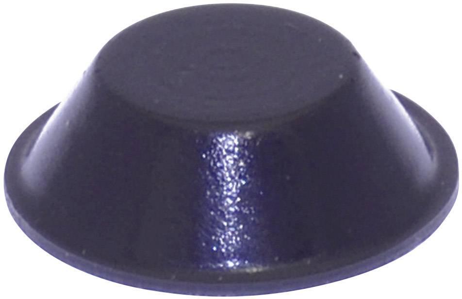 Podstavná nôžka prístrojová TOOLCRAFT PD2019SW, (Ø x v) 19 mm x 6 mm, čierna, 1 ks