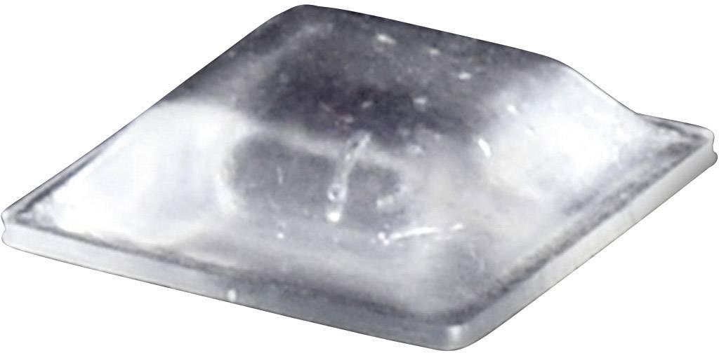 Podstavná nôžka prístrojová TOOLCRAFT PD2127C, (d x š x v) 12.7 x 12.7 x 3.1 mm, priehľadná, 1 ks