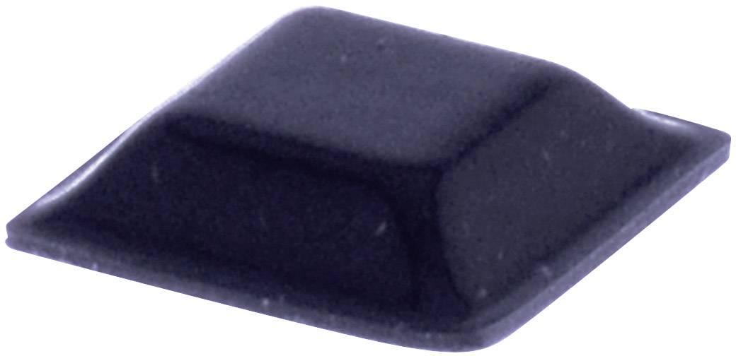 Podstavná nôžka prístrojová TOOLCRAFT PD2127SW, (d x š x v) 12.7 x 12.7 x 3.1 mm, čierna, 1 ks