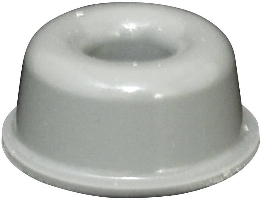 Podstavná nôžka prístrojová TOOLCRAFT PD2210G, (Ø x v) 22.3 mm x 10.1 mm, sivá, 1 ks