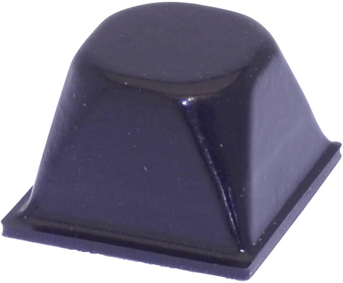 Podstavná nožka přístrojová TOOLCRAFT PD3206SW, (Ø x v) 20.5 mm x 13.2 mm, černá, 1 ks